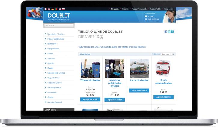 Diseño de tienda Web para Doublet