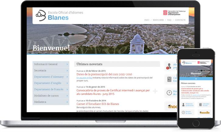 Diseño responsive de la página Web de la EOI Blanes