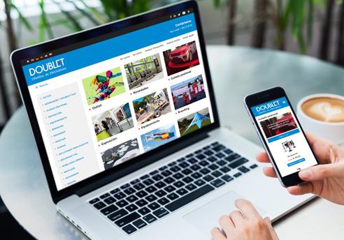 Diseño Web de la tienda online responsive de Doublet