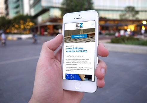 Diseño de la página Web en WordPress para la empresa EZ Acoustics