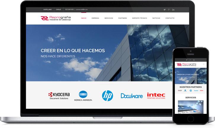 Diseño de la página Web en WordPress para la empresa RIC
