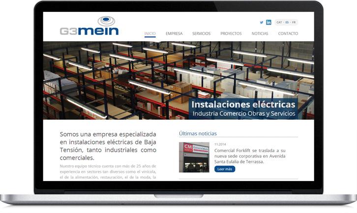 Diseño de la página Web de G3Mein
