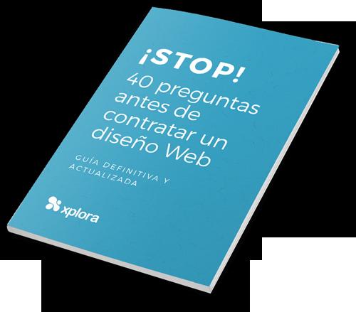 eBook gratis '40 preguntas antes de contratar un diseño Web'