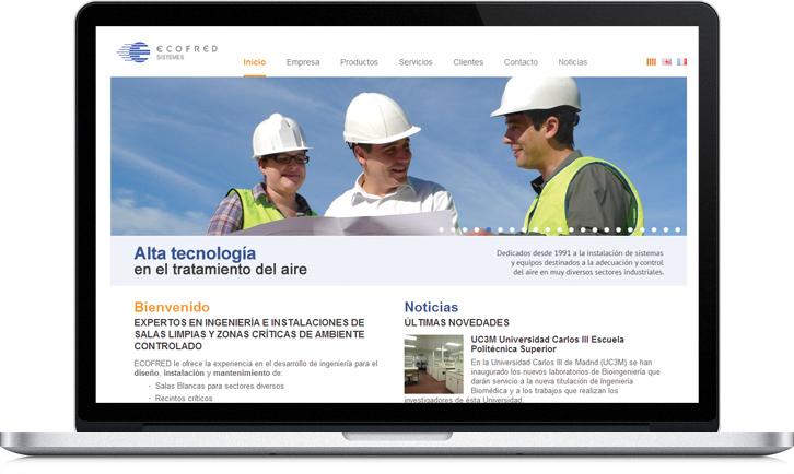 Diseño de la página Web de Ecofred