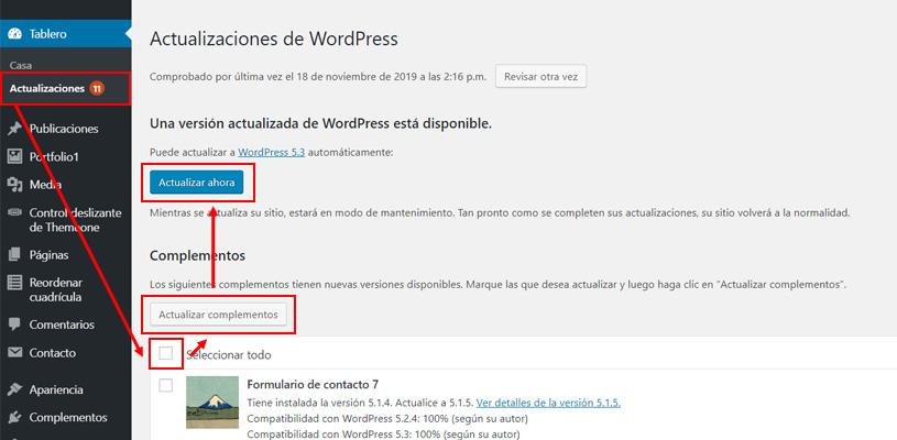 Paso a paso para actualizar WordPress manualmente