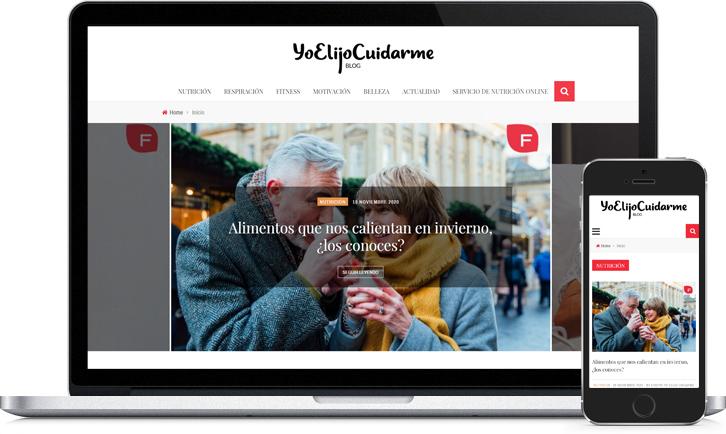 Proyecto de rediseño de la página web de Yo Elijo Cuidarme, creación de nuevas funcionalidades y optimización del WPO y del SEO