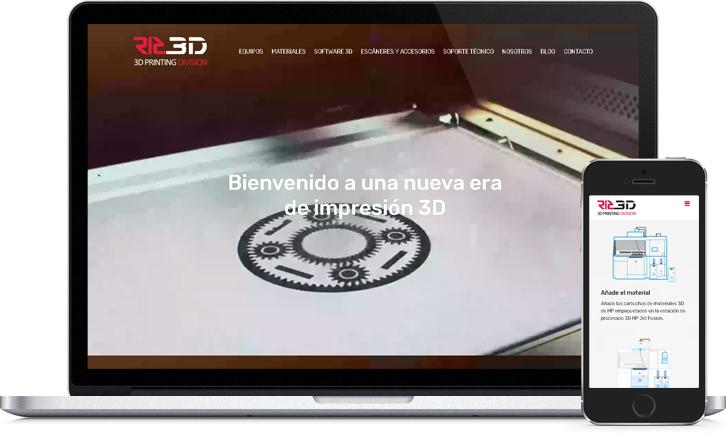 Diseño de página Web responsive de RIC
